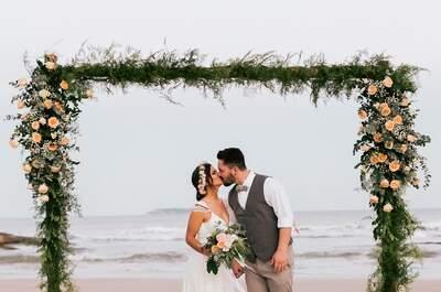 Os melhores penteados para um casamento na praia: intactos do começo ao final!