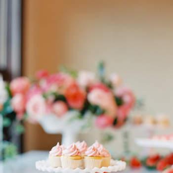 Repostería en tonons rosados. Cupcakes. Credits: O'Malley Photographers