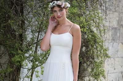 Les plus belles robes de mariée à col carré