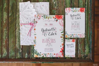 Convites de casamento: 45 modelos lindos para todos os estilos!