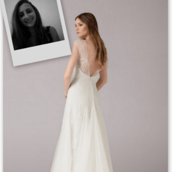 Whenever I dream about my wedding day, I always dream of a design like this one. Something simple, with a floaty fabric combined with intricate details and a revealing transparent back. The beading gives it that special touch that all brides need on their wedding day. I think this is a dream dress for all brides. 