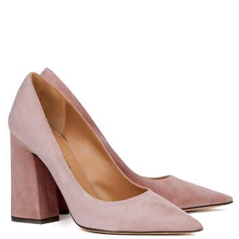 Chaussures de mariée roses Janie, Pura López