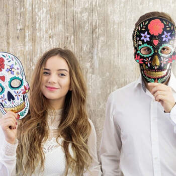 Máscara negra los muertos- Compra en The Wedding Shop