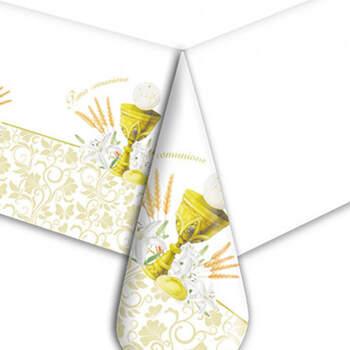 Mantel de Plástico Comunión Marfil- Compra en The Wedding Shop