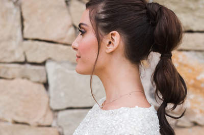 Más de 20 peinados de novia con cola. ¡Los querrás lucir todos!