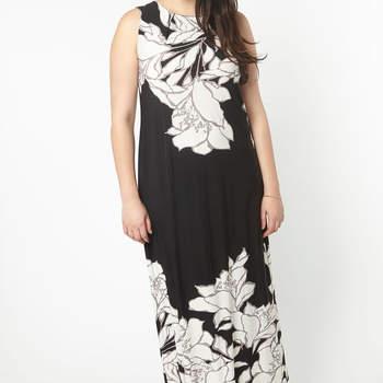 Black Floral Border Maxi Dress. Credits_ Evans