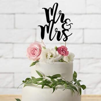 Topper tarta nupcial Sr. y Sra- Compra en The Wedding Shop