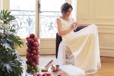 Une mariée ingénue et délicate grâce à la nouvelle collection de robes de mariée signée Amarildine
