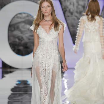 Vestidos de novia con escote en V: Diseños para novias atrevidas y arriesgadas