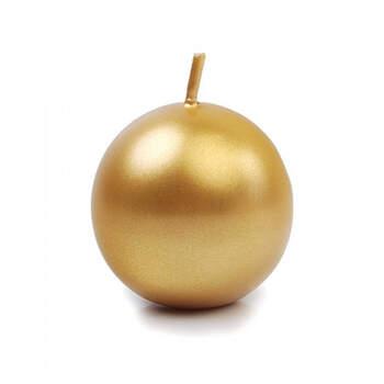 Vela pequeña esfera dorada 10 piezas- Compra en The Wedding Shop