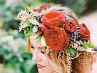 Couronnes de fleurs pour mariée