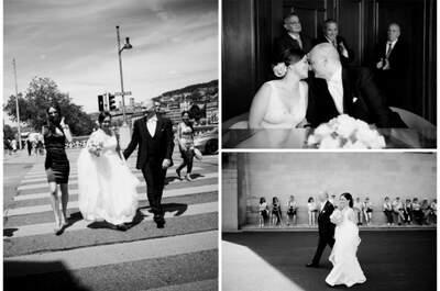 Die exklusive Hochzeit von Carmen und Giuseppe in Zürich!