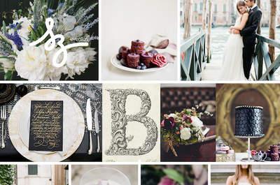 Elegancia magnífica en tu boda: Tonos intensos y un toque vintage para crear la atmósfera perfecta