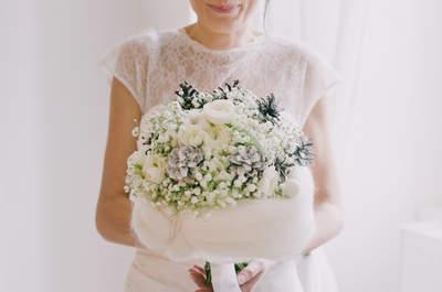 Les plus beaux bouquets pour un mariage hivernal.