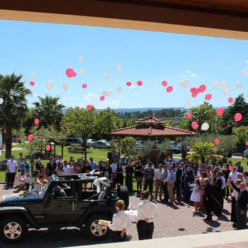 Momento largada de balões