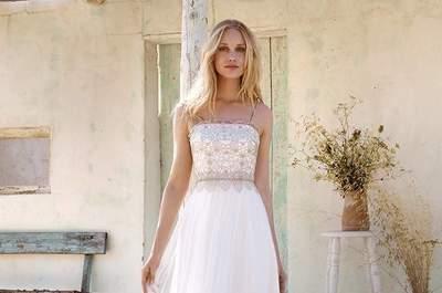 """Vamos falar da última tendência em vestidos de noiva? Optem por um """"slip dress"""" e arrasem!"""