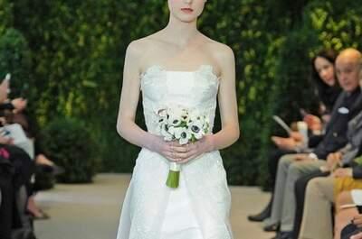 Girly y clásica: vestidos de novia Carolina Herrera colección primavera 2014