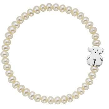 Pulsera TOUS Bear de perlas cultivadas de agua dulce con oso en plata de primera ley.