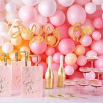 Banner Bubbly Bar - The Wedding Shop !