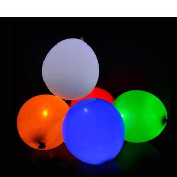 Foto: Globos de color con led