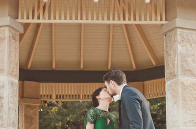 Emerald Wedding Dresses - is green the new ivory?