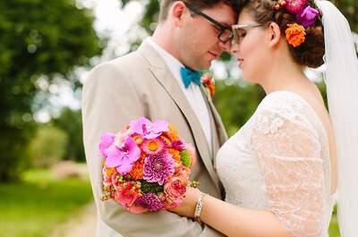 Lebensfroh und kunterbunt – so heirateten Janina & Lukas auf dem Landgut Lindental