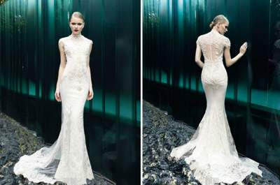 Brautkleider mit Tattoo-Effekt 2015: So schreiten Sie trendig zum Traualtar!