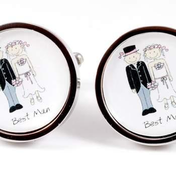 """Si eres el padrino, estos son los mejores gemelos para ti. Foto: <a href=""""https://www.zankyou.es/f/gemelolandia-21113"""" target=""""_blank"""">Gemelolandia</a>"""