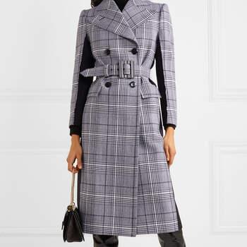 Casaco Cruzado de Lã Prince of Wales Givenchy via Net-a-Porter