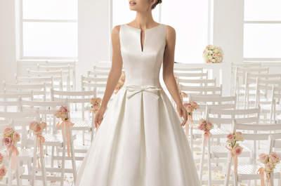 Vestidos de novia cuello barco: diseños con mucha elegancia para el gran día