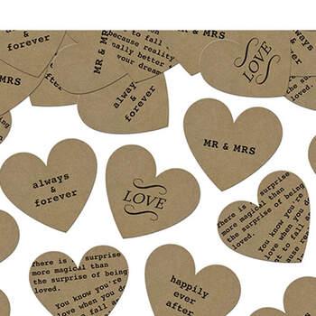 Foto: Confeti de corazones vintage