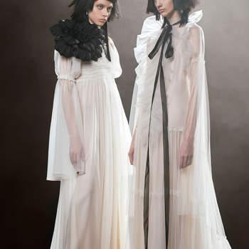 Agatha + Claire. Credits: Vera Wang