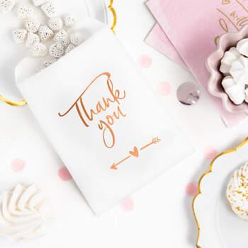 """Bolsas de Papel para Almendras """"Thank You """"6 unidades- Compra en The Wedding Shop"""
