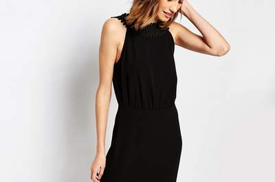 Elegancia máxima con los vestidos de fiesta negros largos 2017