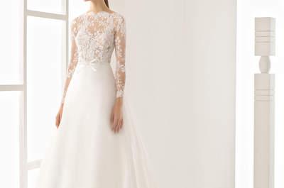 Déjate sorprender por la colección Rosa Clará 2017: simetrías y contrastes perfectos en sus vestidos de novia