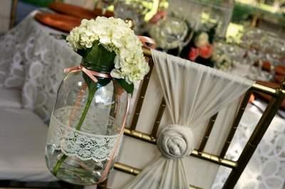 DIY: Dentelle sur des supports en verre pour votre décoration de mariage