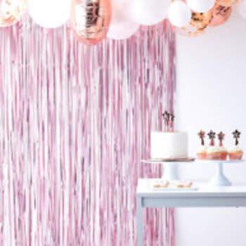 Rideau De Fond Rose - The Wedding Shop !