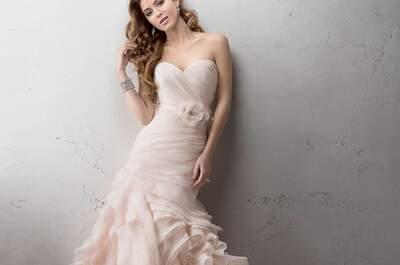 30 vestidos de noiva de cor 2017. Diferencie-se do resto!