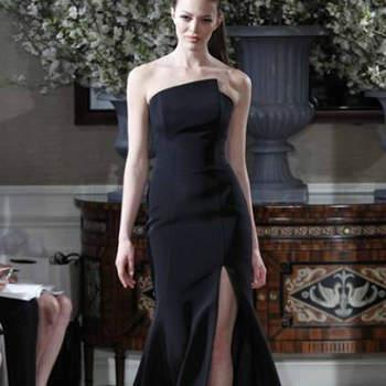 Vestido de noiva preto, da colecção Romona Keveza Primavera 2013.