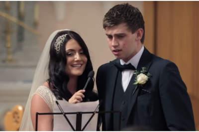¡Mira cómo esta novia consigue sorprender a sus invitados cantando con su cuñado!