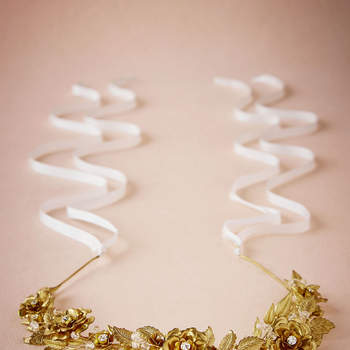 Gilded Rosa Headpiece. Credits: Bhldn.