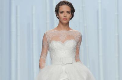 Descubre todo el desfile de Rosa Clará primavera 2016: Vestidos de novia con detalles modernos