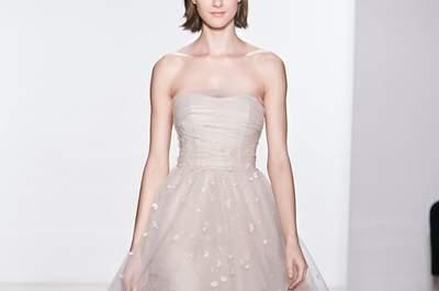 Elegância e sofisticação nos vestidos de noiva Christos 2015 na New York Bridal Week