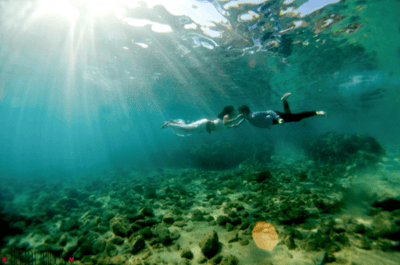 Tips para hacer una sesión trash the dress bajo el mar