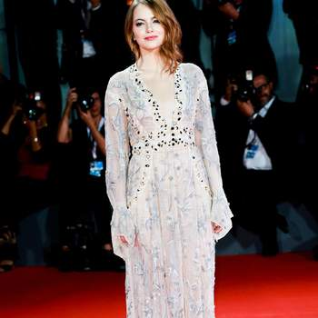 August 30, 2018 - Venice, Italy - Emma Stone walks the red carpet ahead of the 'The Favourite' screening during the 75th Venice Film Festivalin Venice, Italy, on August 30, 2018. (Credit Image: © Matteo Chinellato/NurPhoto/ZUMA Press)