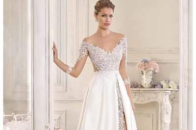 Vestidos de novia corte imperio 2017. ¡Logra una máxima elegancia!