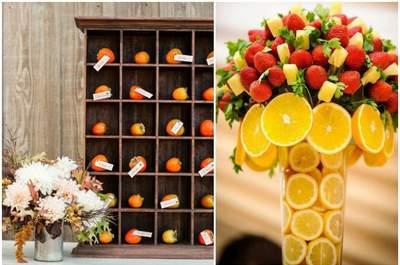 Decora tu banquete de matrimonio con frutas: una opción muy alegre y original