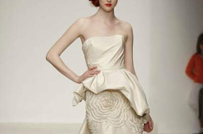 Spring 2013 Wedding Dress Trends: Peplums
