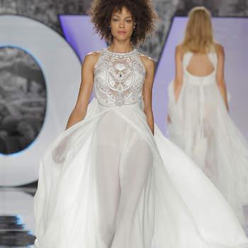 Vestidos de novia con pedrería: Deslumbra a todos invitados el día de tu boda
