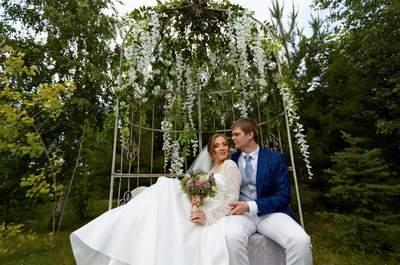 Летняя сказка: свадьба в стиле рустик-шик Кристины и Алексея